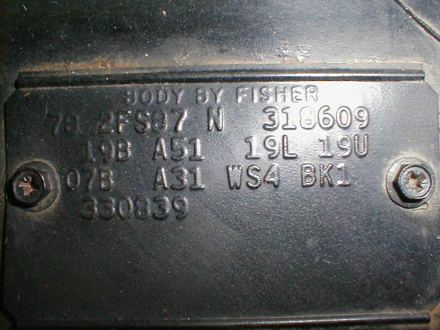 1978 trans am vin decoding