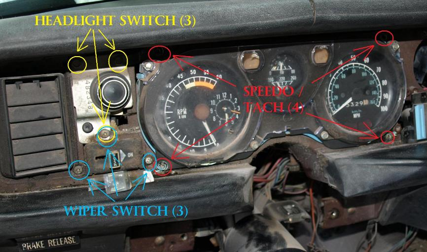 dash removal1979 Trans Am Dash Dash Wiring Harness Full Gauges Firebird Formula #16