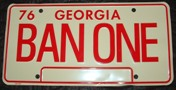 "Bandit Trans Am ""BAN ONE"" License Plate"
