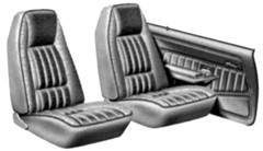 1980 - 1981 Trans Am Seat Covers Standard Vinyl