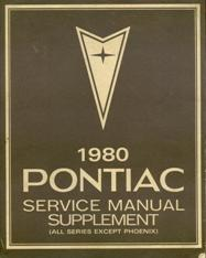 1980 Pontiac Service Manual Supplement