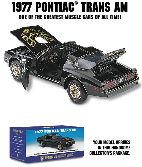 Franklin Mint 1/24 Scale 1977 Trans Am