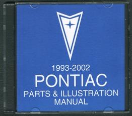1993 - 2002 Pontiac Firebird Parts and Illustration Catalog DVD *SALE*