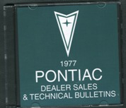 1977 Pontiac Dealer Sales and Technical Bulletins CD *SALE*