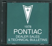 1978 Pontiac Sales and Technical Bulletins CD *SALE*