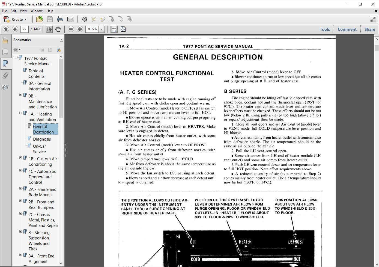1977 pontiac complete restoration manual