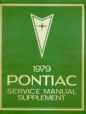 1979 Pontiac Service Manual Supplement