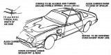 1980 - 1981 Turbo Trans Am Pace Car Decal Placement