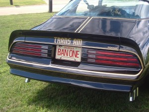Smokey and the Bandit Trans Am License Plate Set